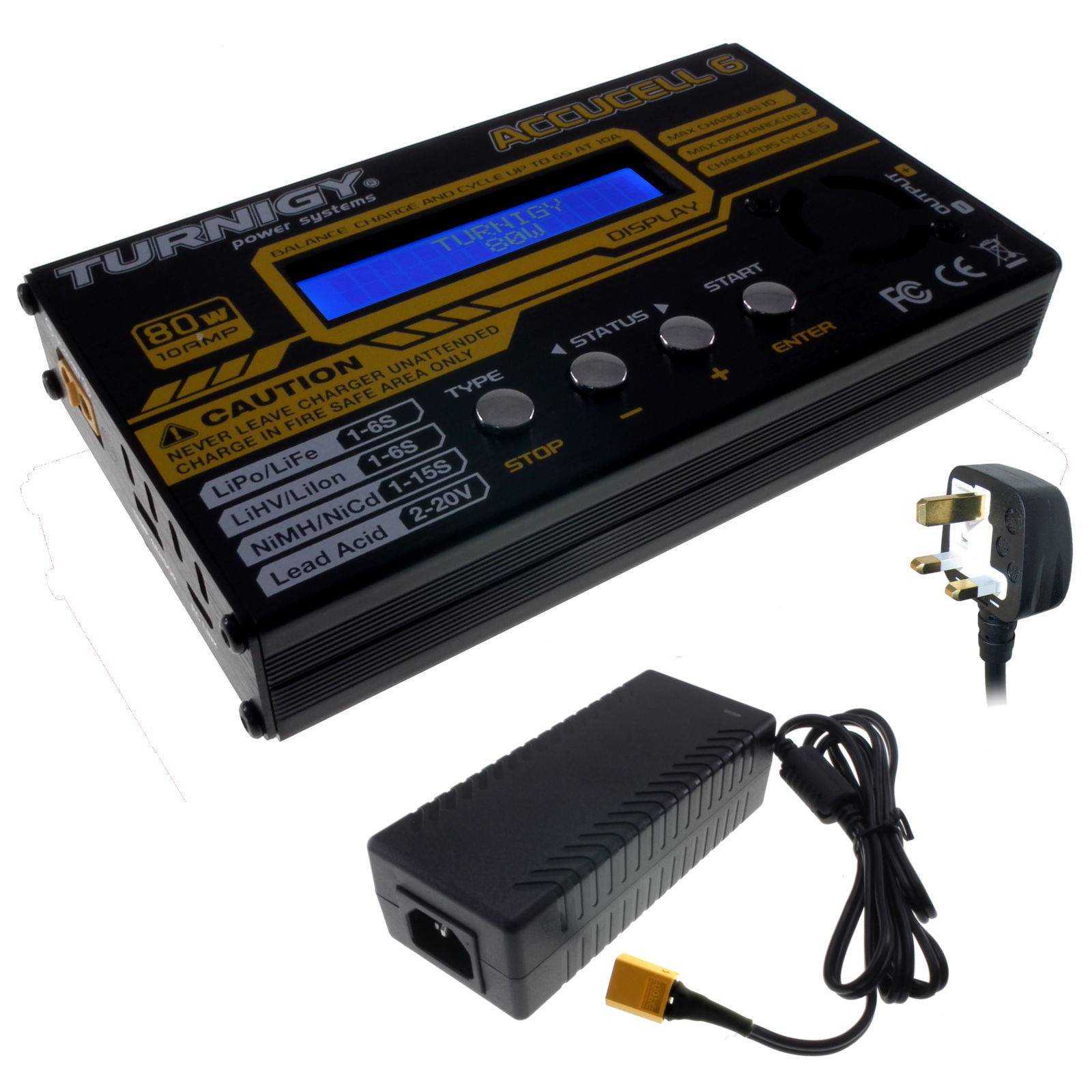Accucel 6 80w Digital Balance Charger High Power 10a With Turnigy Receiver Controlled On Off Switch Gt R C Electronics Supply Component Shop